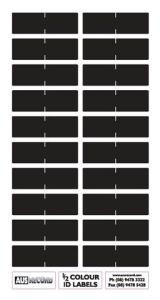 Half size Colour ID Labels. Black