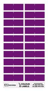 Half size Colour ID Labels. Purple