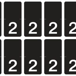Top Tab Number labels. Sheet of 2