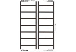 Ausrecord Index labels, Black