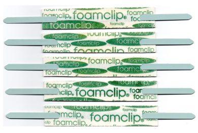 foam clip file fastener self adhesive with steel metal prongs