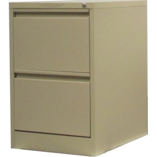 2 drawer steel filing cabinet in beige