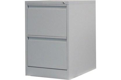 2 drawer steel filing cabinet in grey