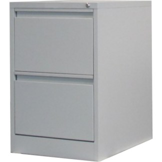 2 drawer steel filing cabinet in grey