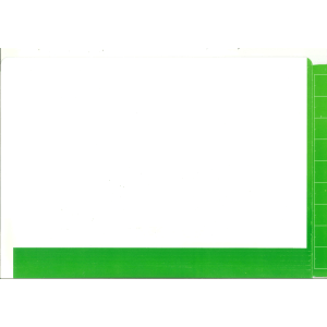 2D light green colour flap and spine file