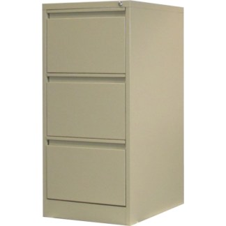 3 drawer steel filing cabinet in beige