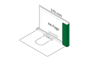 2D File Dark Green with LP Tube Clip