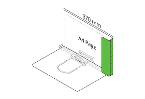 2D File Light Green with LP Tube Clip