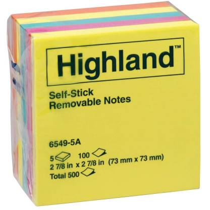 Sticky notes with 3M adhesive