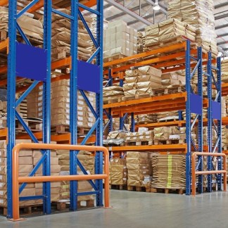 Warehouse pallet racking cover