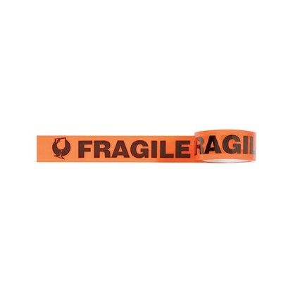 Signet's Own Fluoro Orange Warning Tape 48mm x 66m - Fragile