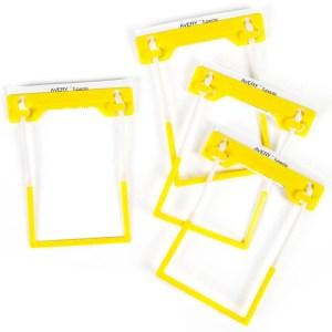 avery tube clips yellow