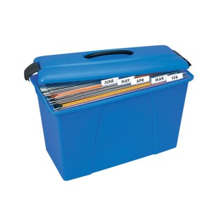 crystalfile 28l blue carry case