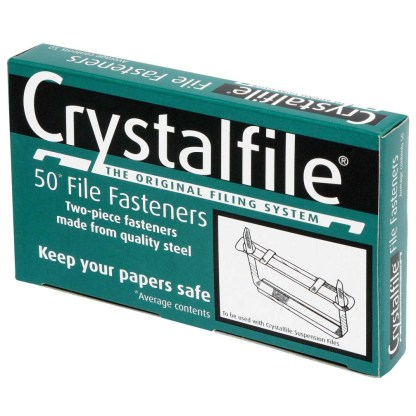 crystalfile two piece steel paper fastener