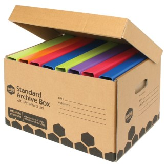 80022E Marbig Standard Archive Box w Attached Lid