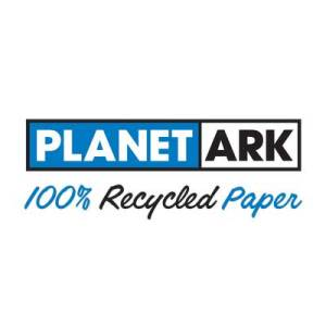 planet ark 100% recycled paper logo