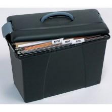 rexel crystalfile carry case black
