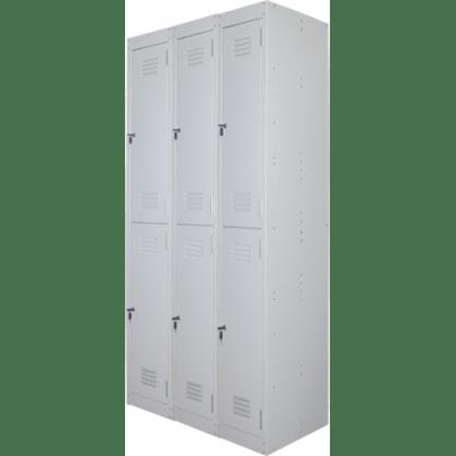 Ausfile 2 door lockers bank of 3