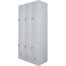 Ausfile 2 door lockers bank of 3