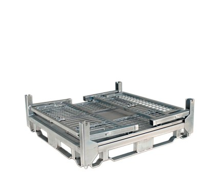 Pallet Cage Type A Sheet steel floor zinc plated all sides folded down