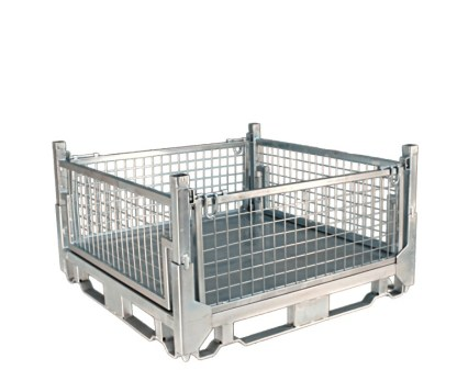Pallet Cage Type A Sheet steel floor zinc plated all sides up