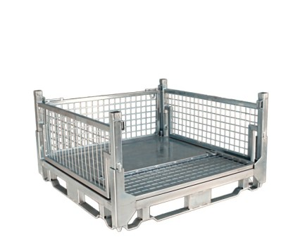 Pallet Cage Type A Sheet steel floor zinc plated front side down