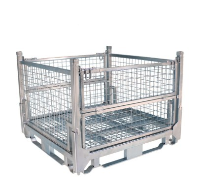Pallet Cage Type A Single Medium Mesh floor hot dip galvanised all sides up