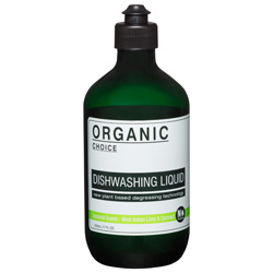 Organic Choice West Indian Lime Coconut Dishwashing Liquid