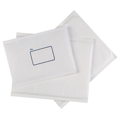 Cumberland Bubble Lined Paper Mailer 151 x 229mm White Box of 100