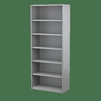Ausrecord Steel Bookcase Shelving Starter Bay 900mm Wide Grey