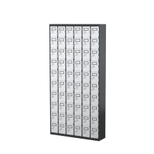 SteelCo LK60T 60 Door Cell Phone & Keys Locker 1810H x 900W x 225D Graphite Ripple