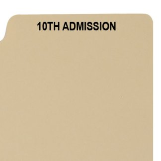 10th admission divider buff manilla