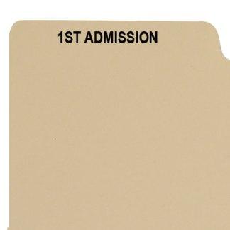1st admission divider buff manilla