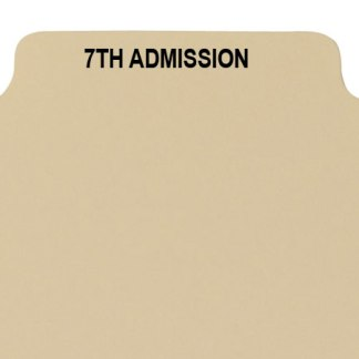 7th admission divider buff manilla