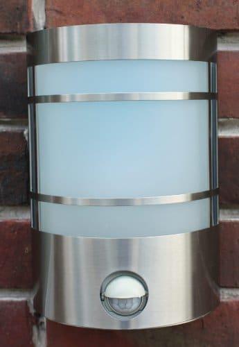 IR Wand-Außenleuchte mit Bewegungsmelder Edelstahl IP44 Außenlampe Sensor Bewegungssensor Infrarot Hoflampe Gartenlampe Gartenleuchte 1010-pi - 2