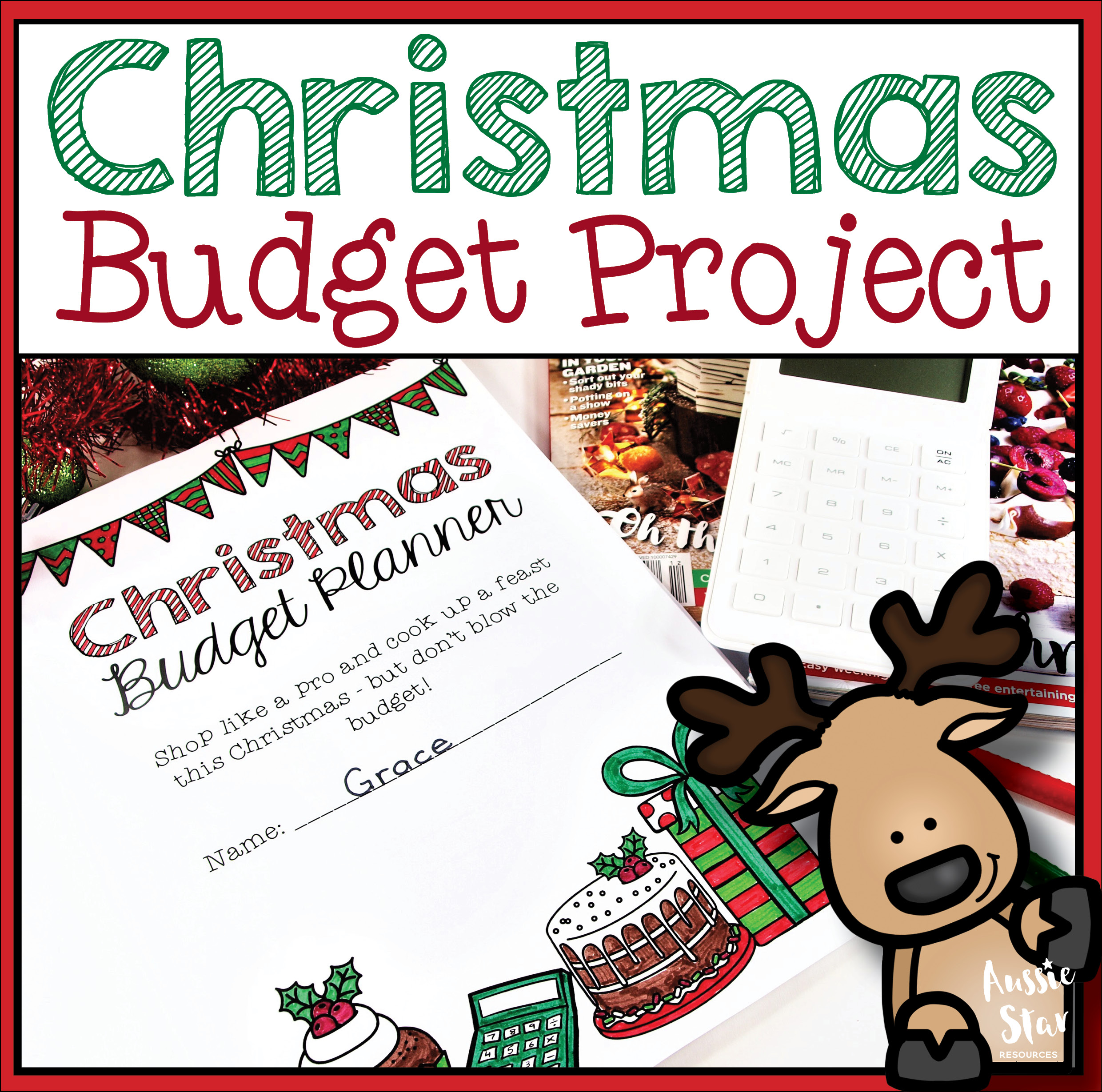 Christmas Budget Project Planner For Grades 5 6