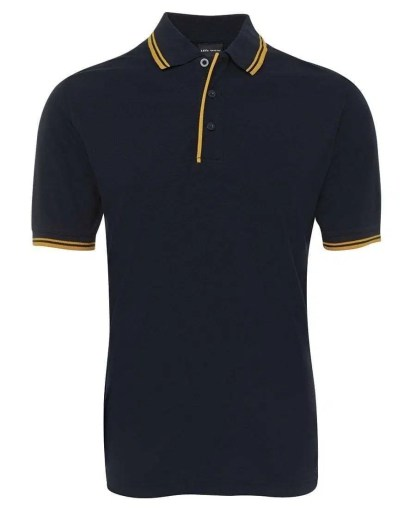Contrast Polo - Navy/Gold