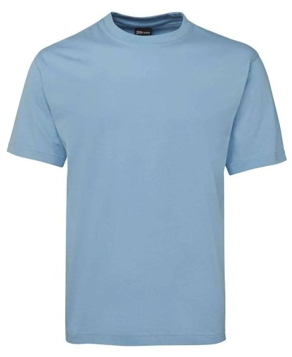 Round Neck T Shirts - Light Blue