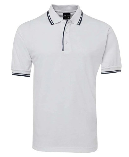 Contrast Polo - White Navy