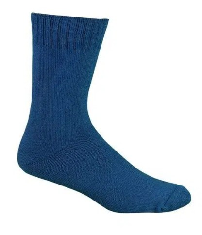 Bamboo Extra Thick Work Socks-Size 4-18 -Blue