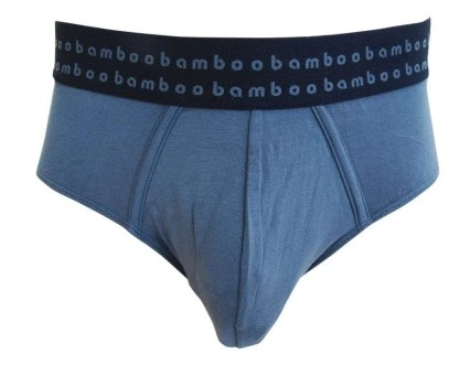 Bamboo Mens Briefs - Slate