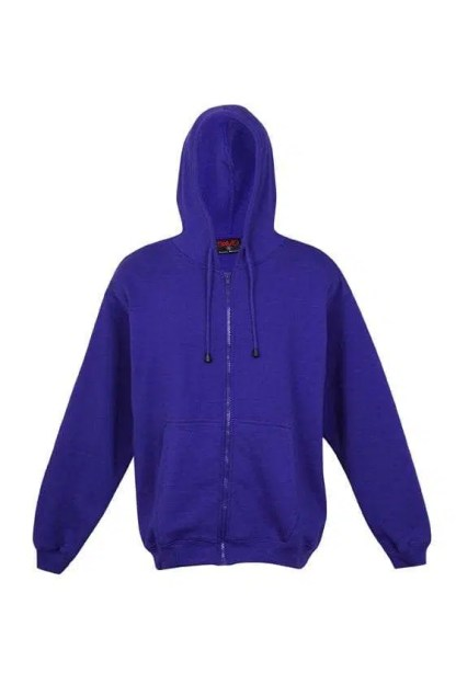 Kangaroo Pocket Hoody Full Zip Grape