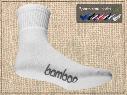 Bamboo Sports Crew Socks on Bamboo