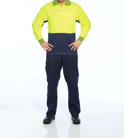 Hi Vis Polo Shirt Long Sleeve - Product image