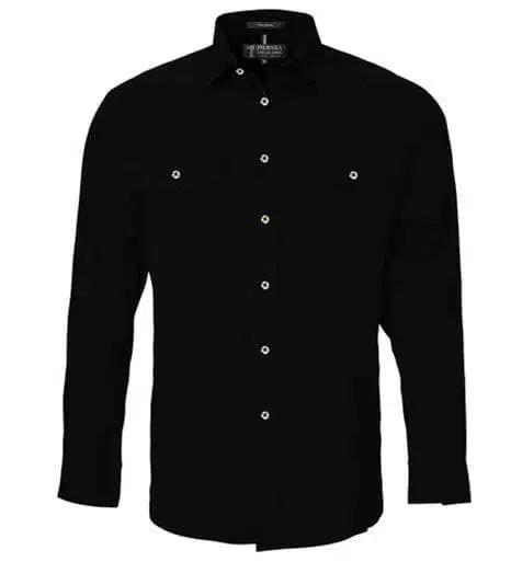 Pilbara LS Full Button Black