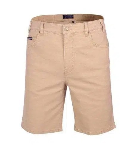 Pilbara Cotton Jean Shorts - Wheat