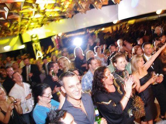 Partygoers at Joel Morehu-Barlow's Cloudland birthday bash.