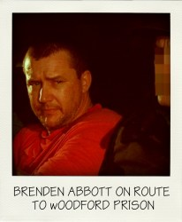 POSSIBLE SA MOVE Postcard Bandit Brenden Abbott (left) is escorted to Woodford Correctional Centre in 1998-001-aussiecriminals