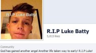 A tribute page for Luke Batty has been flooded with messages.