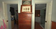 The pictures give inside look into the couple's bedroom, including this photo of the doors to their wardrobe and ensuite